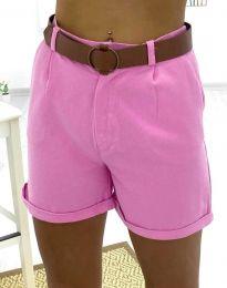 Къси дамски панталонки в розово - код 2236