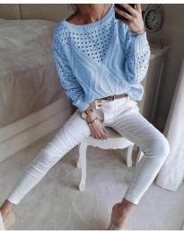 Дамска блуза в светло синьо - код 6182
