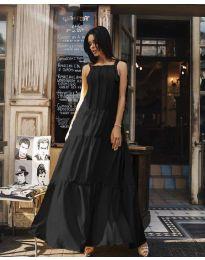 Ефирна дълга рокля в цвят  черно - код 1105