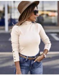 Дамска блуза в бяло - код 7971