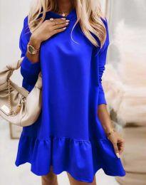Свободна дамска рокля в синьо - код 9376