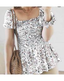 Дамска блуза в бяло - код 3464