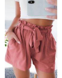 Къси панталонки в цвят праскова - код 3637