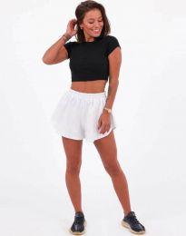 Атрактивни къси панталони в бяло - код 11979