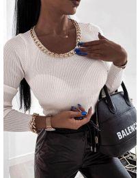Дамска блуза в бяло - код 0981