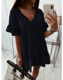 Свободна рокля в черен цвят - код 559