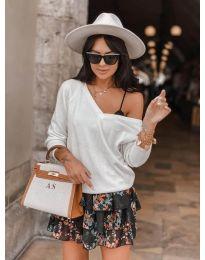 Дамска блуза в бяло - код 6013