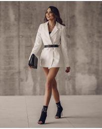 Дамско сако в бяло - код 5957