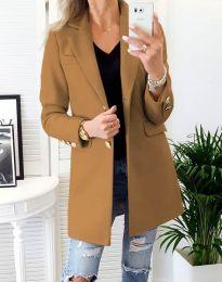 Дамско палто в цвят капучино - код 4679