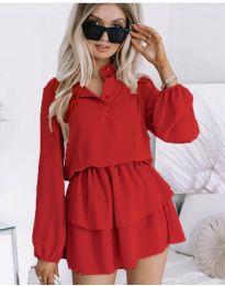 Дамска рокля в червено - код 4093
