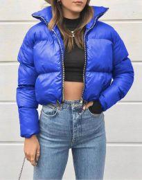 Късо дамско яке в синьо - код 1101