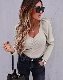 Дамска блуза в бежово - код 394