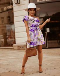 Дамска рокля с флорален десен - код 2503 - 3