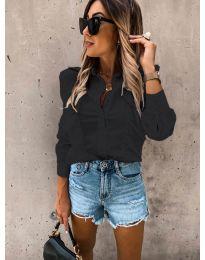 Дамска риза в черно - код 872