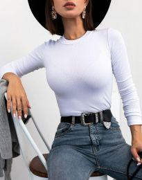 Изчистена дамска блуза в бяло - код 12119
