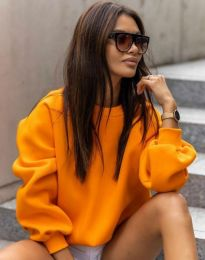 Стилна дамска блуза в оранжево - код 5687