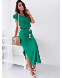 Изчистена рокля в зелено - код 6622