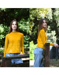 Дамска блуза в цвят горчица - код 912