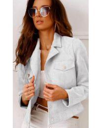 Дамско късо яке в бяло - код 9461