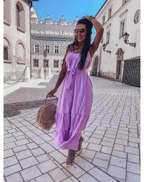 Дълга дамска рокля в  лилаво - код 1230