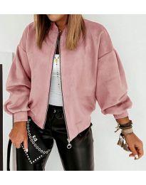 Дамско късо яке в розово - код 7745