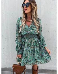 Дамска рокля с атрактивни мотиви - код 7712 - 3