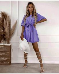 Атрактивна дамска рокля в лилаво - код 13131