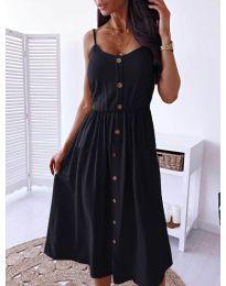 Изчистена рокля цвят черно -  код 5057