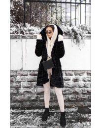 Дамско палто в черно - код 279