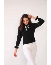 Атрактивна дамска блуза в черно - код 6631