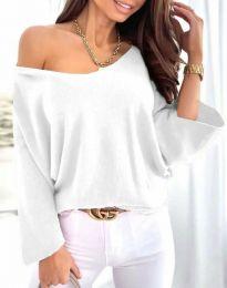Дамска блуза в бяло - код 6289