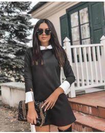 Елегантна рокля в черен цвят - код 771