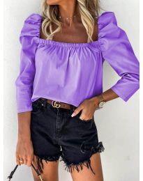 Дамска блуза в лилаво - код 9906