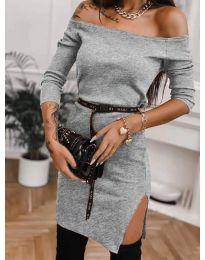 Дамска рокля в сиво - код 4720