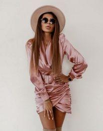 Стилна дамска рокля в розово - код 0659