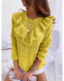 Елегантна дамска блуза в цвят горчица - код 790
