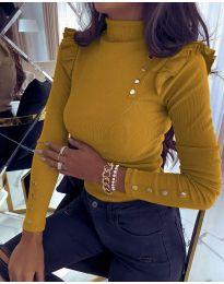 Дамска блуза в цвят горчица - код 6566
