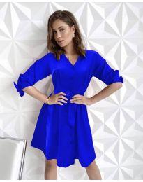 Изчистена рокля в синьо - код 9028