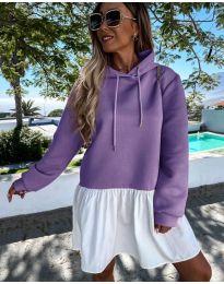 Спортна рокля в лилаво - код 6947
