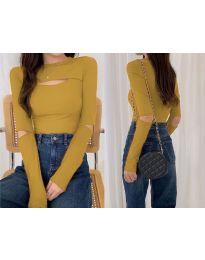 Дамска блуза в цвят горчица - код 0566