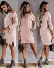 Дамска рокля  в розово - код 8858