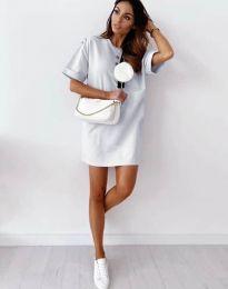 Свободна рокля в бяло - код 2231