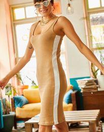 Спортна рокля в цвят капучино - код 1253