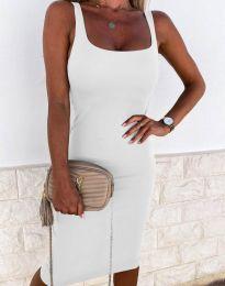 Елегантна рокля в бяло - код 8899