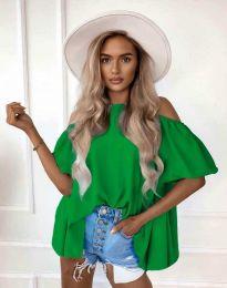 Атрактивна дамска блуза в зелено - код 0157