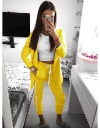 Дамски комплект в жълт цвят - код 800