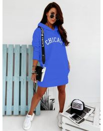 Спортна рокля в синьо - код 802