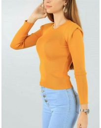 Дамска блуза в оранжево - код 374