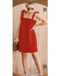 Свободна рокля в червено - код 482