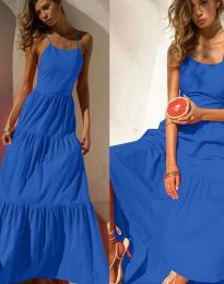 Феерична рокля в тъмносиньо - код 2991